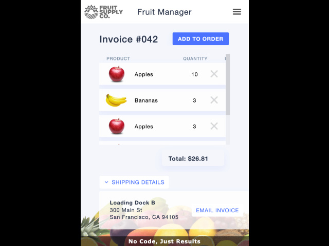 Fruity Invoices